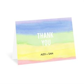 Wedding Thank You Cards: Painted Rainbow Thank You Card