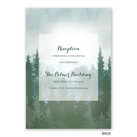 In the Pines - Invitation with Free Response Postcard