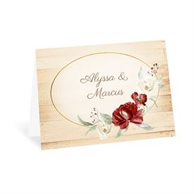 Wedding Thank You Cards: Framed in Floral Brick Thank You Card