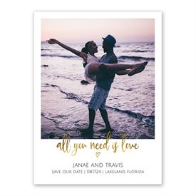 All You Need is Love Save the Date