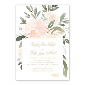 Soft Petals Invitation with Free Response Postcard