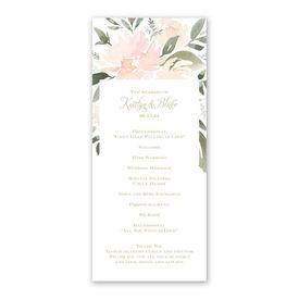 Soft Petals Wedding Program