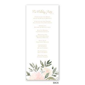 Soft Petals - Wedding Program