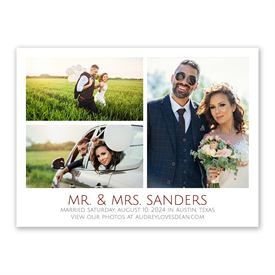 Picture Perfect Wedding Announcement