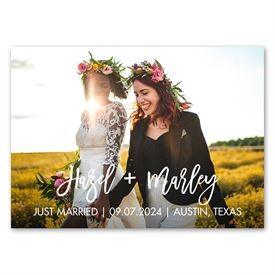 Two of Us - Wedding Announcement Magnet