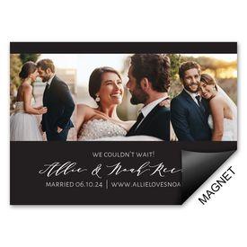 Wedding Announcements: Sweet Snaps Wedding Announcement Magnet