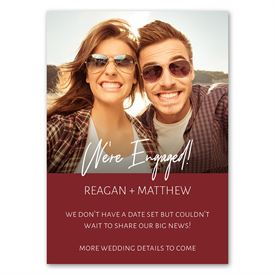 Engaged - Engagement Announcement Magnet