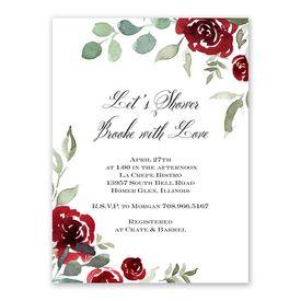 Lovely Rose Bridal Shower Invitation