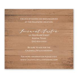 Wedding Reception Cards: Woodgrain Blooms Information Card