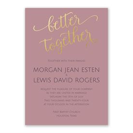 Better Together Invitation with Free Response Postcard