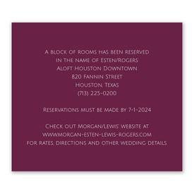 Wedding Reception Cards: Better Together Information Card
