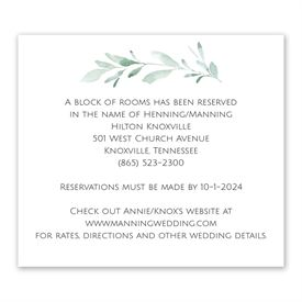 Wedding Reception Cards: Painted Greens Information Card