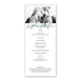 Painted Greens Wedding Program