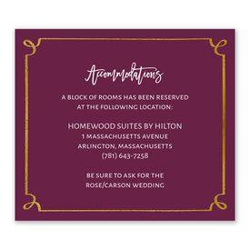 Wedding Reception Cards: Golden Fairy Tale Information Card