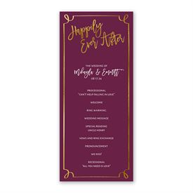 Golden Fairy Tale Wedding Program