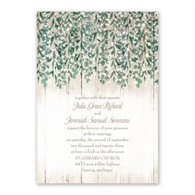 Glowing Canopy Invitation with Free Response Postcard