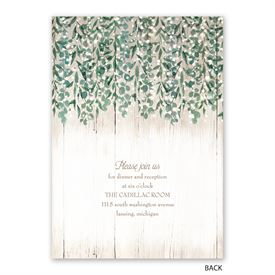 Glowing Canopy - Invitation with Free Response Postcard