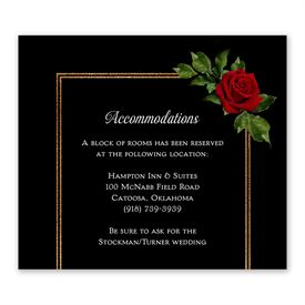 Wedding Reception Cards: Red Rose Information Card