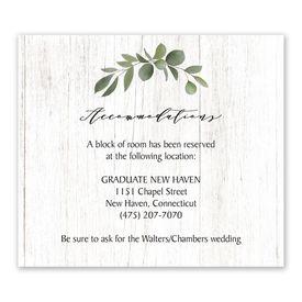 Wedding Reception Cards: Greenery Wreath Information Card