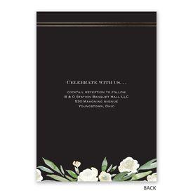 Budding Beauty - Invitation with Free Response Postcard