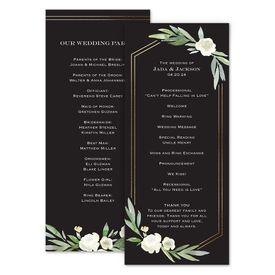 Wedding Programs: Budding Beauty Wedding Program