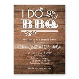 Rehearsal Dinner Invitations: I Do BBQ Rehearsal Dinner Invitation