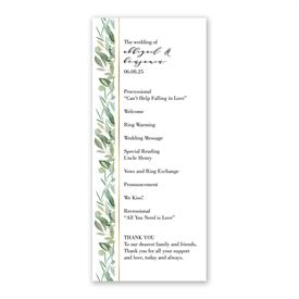 Natural Elegance Wedding Program