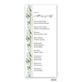 Natural Elegance - Wedding Program