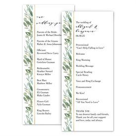 Wedding Programs: Natural Elegance Wedding Program