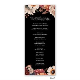 Lush Blooms - Wedding Program