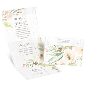 Fresh Roses Seal and Send Invitation
