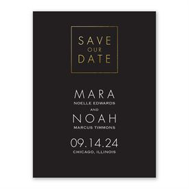Modern Save The Dates: Gold Elegance Save the Date