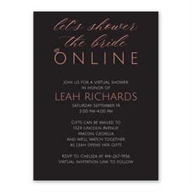 Virtual Shower Bridal Shower Invitation