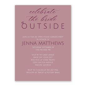 Outdoor Celebration Bridal Shower Invitation