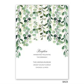 Under the Trees - Invitation with Free Response Postcard