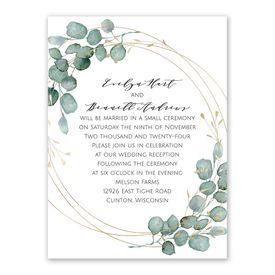 Eternity Reception Invitation