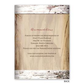 Carved Birch - Reception Invitation