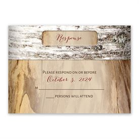 Wedding Response Cards: Carved Birch Response Card