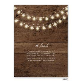 Rustic Glow - Reception Invitation