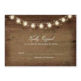 Wedding Response Cards: Rustic Glow Response Card