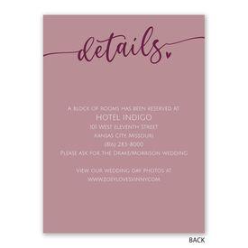 Nothing Fancy - Reception Invitation