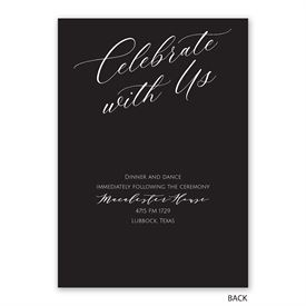 Never Failing - Invitation with Free Response Postcard