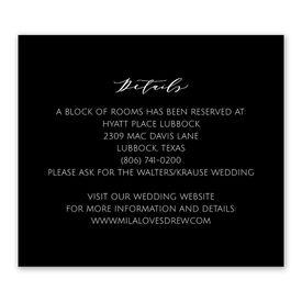 Wedding Reception Cards: Never Failing - Information Card