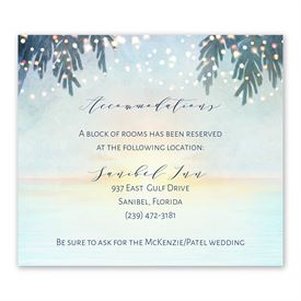 Wedding Reception Cards: Tropical Sunset Information Card