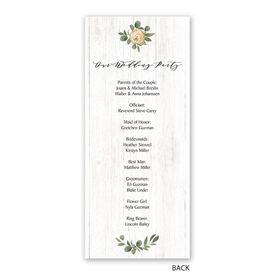 Greenery Wreath - Mr. and Mr. - Wedding Program