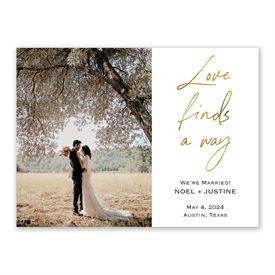 Love Finds a Way Wedding Announcement