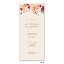 Apricot Floral - Wedding Program