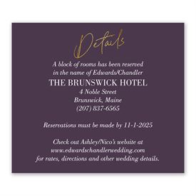Wedding Reception Cards: Finally - Information Card