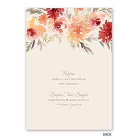 Apricot Floral - Invitation with Free Response Postcard