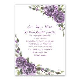 Pretty in Purple Invitation with Free Response Postcard